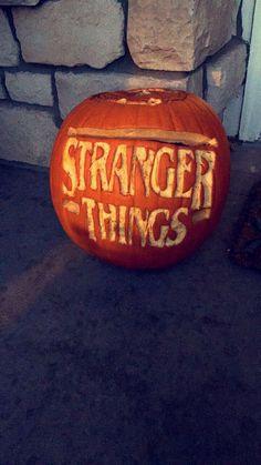 Stranger Things 02 Pumpkin Stencil Stoneykinscom Pumpkin