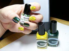 Green Bay Packers Glitter Nail Polish Team Colors