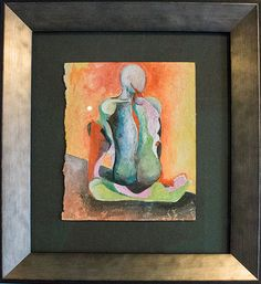 Figure/color study by Christiana Colorfulsouls, mixed media on paper (5.5x7), framed 11x12, $550. . . . . . . contemporary art for sale, palm springs, art, art gallery, art collector, fine art, modern art, abstract art, abstract painting, contempory painting, interiors, interior design, interior decor, interior design ideas, interior designer, los angeles art, losangeles design, los angeles interior designer