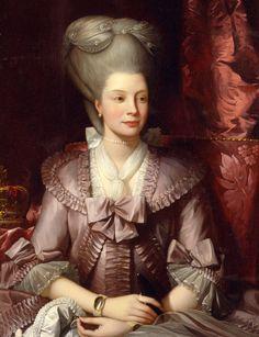 Queen Charlotte - Benjamin West.