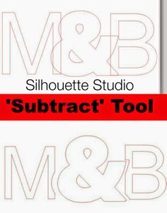 How to use the Silhouette 'subtract' and 'subtract all' tools #silhouette #silhouetteamerica #silhouettetutorials www.silhouetteschool.blogspot.com