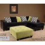 $1599.99 Chelsea Home Furniture - Fiona 2 PC Sectional Elpaso Black/Implosion Black Ringlet White/Montego Apple - 201074-SEC