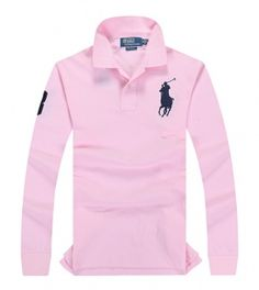POLO RALPH LAUREN shirt with long sleeves pink