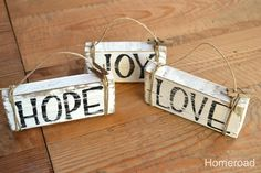 Rustic Driftwood Christmas Ornaments....I'm thinking I may make some of these with my scrap wood.