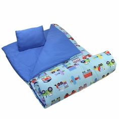 Olive Kids Trains Planes Trucks Sleeping Bag Bags Childrens