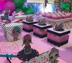 Kit Festa Lol Surprise... As bonecas queridinhas do momento! #kitfesta #personalizadosdeluxo #scrapfesta #lolsurprise #lolsurpriseparty #umbocadinhodeideias #festalolsurprise #sofita_atelier
