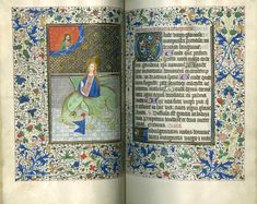 """""""Saint Margaret and the Dragon"""" From Book of Hours, Use of Salisbury, Circa 1455."""