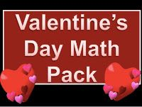 Valentine's Day addition and Subtraction sheets