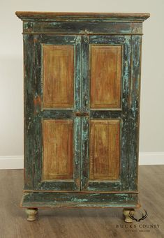 Primitive Cabinets, Rustic Cabinets, Repurposed Furniture, Painted Furniture, Mexican Furniture, China Cabinet Display, Pie Safe, Antique Paint, Cabinet Makeover