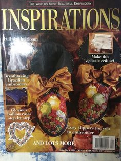 Inspirations Magazine: The World& most beautiful Embroidery Issue 4 Wool Embroidery, Embroidery Patterns, Baby Cocoon, Gown Pattern, Inspirations Magazine, Patterned Sheets, Brazilian Embroidery, World's Most Beautiful, Vintage Crafts