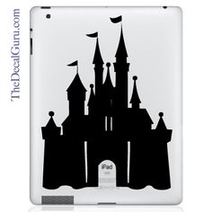 This is the best!! Cindy's castle!    The Decal Guru  - Disney Castle iPad Decal, $12.99 (http://thedecalguru.com/product/disney-castle-ipad-decal/)