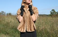 Vintage Pastel MINK Stole  Pin Up  Mad Men  by RubyChicBoutique, $180.00