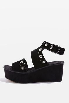 1e191901f2e3 WIZZ Studded Wedges. Black High Heel SandalsHigh ...