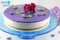 Tarta de caramelos violetas con Thermomix. Ana Sevilla