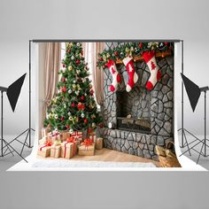 Christmas Background Cloth Backdrop Studio Photography Props Video Photo D #MY