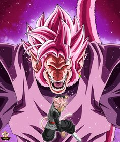 Great Ape Rose Goku Black-by Dragon Ball Z, Dragon Ball Image, Anime Echii, Anime Art, Goku Black Ssj Rose, Broly Ssj4, Foto Do Goku, Zamasu Black, Dragon Super