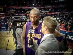 2012- NBA Los Angeles Lakers at Los Angeles Clippers. Post-Game Interview, Kobe Bryant.