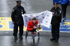 """Your 2019 Boston Marathon Men's Push Rim Wheelchair champion, Daniel Romanchuk! Marathon Man, Boston Marathon, Champion, Twitter, Men, Guys"
