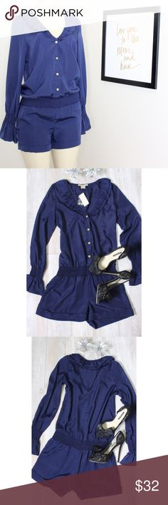 NEW Arden B Romper 💙⭐️ Arden B button up romper in color sapphire blue, absolutely stunning in person, new with tags, measurements laying flat arm pit to arm pit 19' shoulder to hem 33 1/2 Inseam 3' rise 9'⭐️bundle$save⭐️ Arden B Other