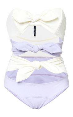 Triple Poppy Bow-Embellished Swimsuit by Lisa Marie Fernandez Now Available on Moda Operandi