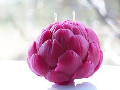 Brightly Tinted Beeswax Artichoke  One Globe by YourBeeswax, $21.00