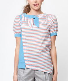 Dear Creatures Red & Blue Natalie Top on #zulily