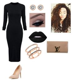 """""""Grammys."""" by grier-kiara906 on Polyvore featuring beauty, Louis Vuitton, WithChic, EF Collection, Michael Kors, Lime Crime and Dorothy Perkins"""