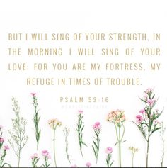~ Psalm 59:16 ~
