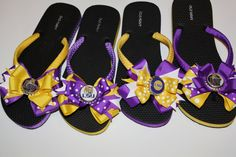 LSU Flip Flops - Many schools available