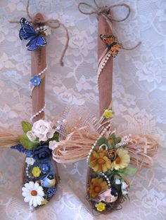 altered birdhouses | Martica Designs: Altered Wooden Spoons