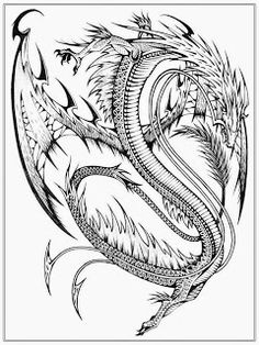 Coloring Printables And Advanced Realistic Dragon Pages