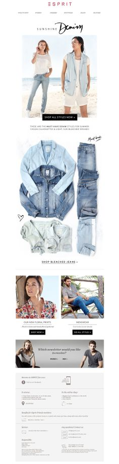 #newsletter Esprit 05.2014 We ♥ summery, lightweight DENIM styles