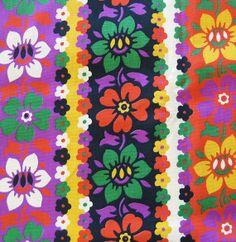 1960s Vintage Cotton Yardage  Mid Century Floral  by SelvedgeShop, $20.00