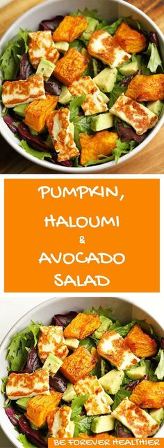 This pumpkin, haloumi & avocado salad is the perfect weekday dinner! Minimal E … – Informations About Dieser Kürbis, Haloumi & Avocado Salat ist das perfekte Abendessen unter der Wo… Pin You can easily use … Avocado Dessert, Avocado Salad Recipes, Kohlrabi Recipes, Vegetarian Recipes, Cooking Recipes, Healthy Recipes, Keto Recipes, Cooking Fish, Oven Recipes