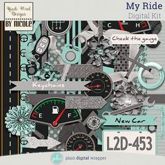 My Ride {Digital Kit} #plaindigitalwrapper #pdw #digitalkit #scrapbookkit #scrapbook #digitalscrapbook #kpdbynicole