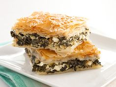 Greek Spinach and Feta Pie (Spanakopita) Recipe - America's Test Kitchen; I modify slightly and use it as the filling for my Greek Spinach Empanadas. Kitchen Recipes, Cooking Recipes, Pork Recipes, Spanakopita Recipe, Vegetarian Recipes, Healthy Recipes, Savoury Recipes, Healthy Eats, Yummy Recipes