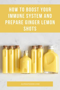 These simple lemon, ginger, honey and cayenne immunity shots are part of a wonderful immune booster juice to start the day right during cold and flu season ( or any time of the year! Lemon Water Benefits, Lemon Health Benefits, Ginger Benefits, Healthy Juice Recipes, Healthy Juices, Healthy Drinks, Health Recipes, Detox Recipes, Healthy Treats