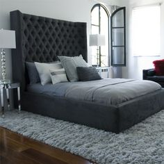 HStudio - Sasha Bed - I love this Bed, it is available in a variety of options and it changes the look completely. Check out their website to see incredible modern looks. #manchesterwarehouse