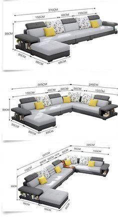 Modern Luxury U Type Fabric Sofa – Sofa Design 2020 Living Room Sofa Design, Room Furniture Design, Sofa Furniture, Living Room Designs, Sofa For Living Room, Modern Furniture, Sofa Set Designs, Wooden Sofa Designs, Sofa U Form