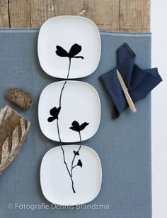 beautiful idea for sushi set - birds in a winter tree maybe