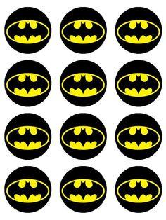 Batman - Batman Printables - Ideas of Batman Printables - Batman Edible Image Cupcake Toppers by Shore Cake Supply Baby Boy 1st Birthday, Batman Birthday, Superhero Birthday Party, Cake Birthday, Lego Batman Party, Birthday Parties, Batman Cake Topper, Batman Cupcakes, Superhero Cupcake Toppers