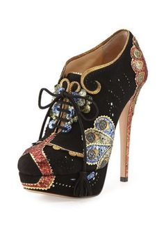 apparel orient express | ... Olympia › Shoes › Charlotte Olympia Orient Express Lace-Up Bootie