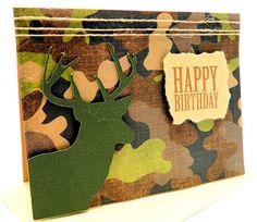 Handmade Greeting Card Happy Birthday Buck by DesignsByCnC on Etsy