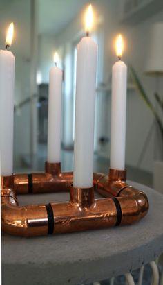 DIY Kupfer-Kerzenständer