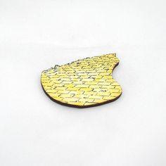 Wizard Of Oz Yellow Brick Road Brooch by LaurasJewellery on Etsy, £5.00