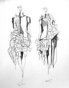 Fashion Sketchbook - fashion illustration; fashion design sketches; fashion portfolio // Connie Blackaller