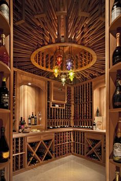 Wine Cellars can be an incredibly beautiful addition to the home, and going through the process of tasting and acquiring the wines to fill them isn't too bad either. Description from cantaradesign.com. I searched for this on bing.com/images