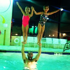 """Shay and his girls...""""High V"""" pool party!"""