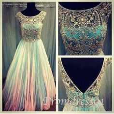 Long scoop backless beaded prom dress/ long prom dress 2014 on Etsy, in love with this dress. Prom Dress 2014, Beaded Prom Dress, Homecoming Dresses, Beaded Chiffon, Graduation Dresses, Prom Gowns, Beaded Top, Bridesmaid Dresses, Prom 2015