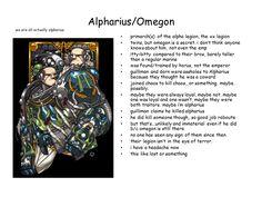 The 20th Legion Primarch ... Alpharius & Omegon of the Alpha Legion.